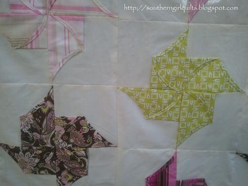 Origami Pinwheel Quilt Top -- Detail