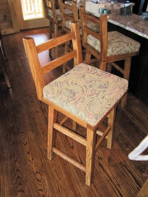 Rustic Bar Stool Wormy Chestnut