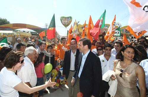 Pedro Passos Coelho na Feira de Maio em Leiria