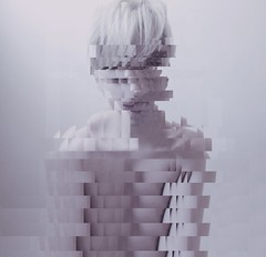(htor) Tags: light portrait selfportrait art colors doubleexposure pop pale blonde faceless glitch