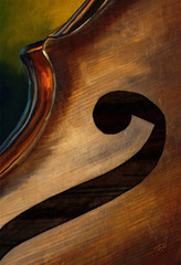 Belly of the Bass (Terry Pellmar) Tags: wood music texture bass digitalart jazz digitalpainting instrument mygearandme mygearandmepremium mygearandmebronze