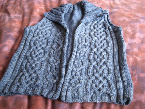 wip/rip: cabled cardigan