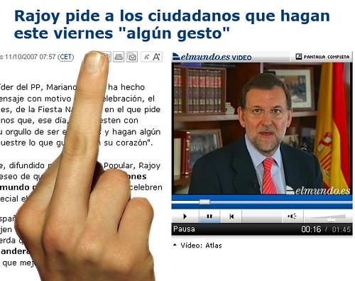 Gesto pa Rajoy