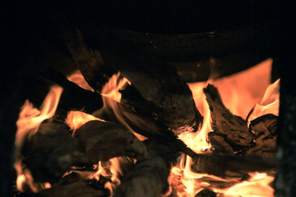 Fass über Feuer