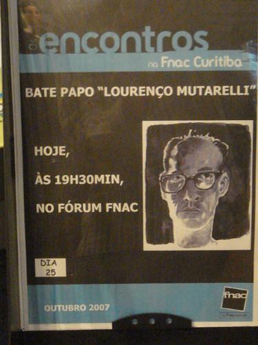 Cartaz Lourenço Mutarelli na Fnac