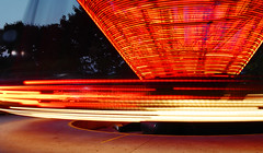 flashing lights (serhio) Tags: park red ontario canada motion west night speed dark fun lights amusement movement ride sony spin fast cybershot explore round roller rollercoaster flashing vaughn coaster orbit sergei canadas dscw1 kanye yahchybekov serhio
