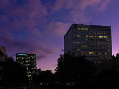 Purple sky (Candice (Bessie Smith)) Tags: sunset sky clouds buildings purple sfv comerica shermanoaks november9 citynationalbank sepulvedablvd eveningcommute photo365 photo365313