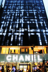 CHANEL Ginza (d'n'c) Tags: lighting street door light fashion shop architecture night facade logo ginza store glow mark entrance illumination  nightscene nightview chanel brand