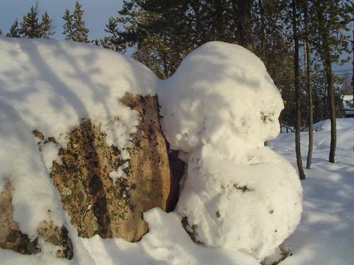 nature made a snowman