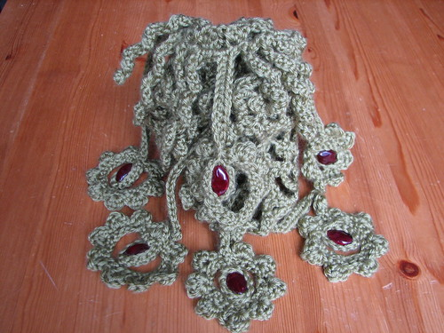Picot Mesh Scarf Monster