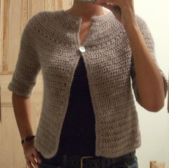 top down round yoke cardigan
