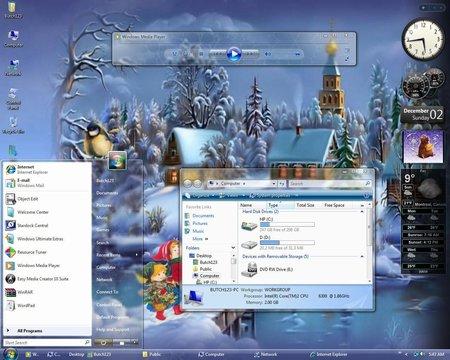 Happy Holidays - Christmas Vista Theme