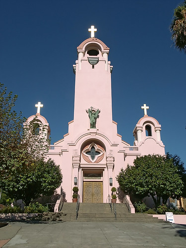 Saint Raphael Roman Catholic Church, in San Rafael, California, USA - exterior