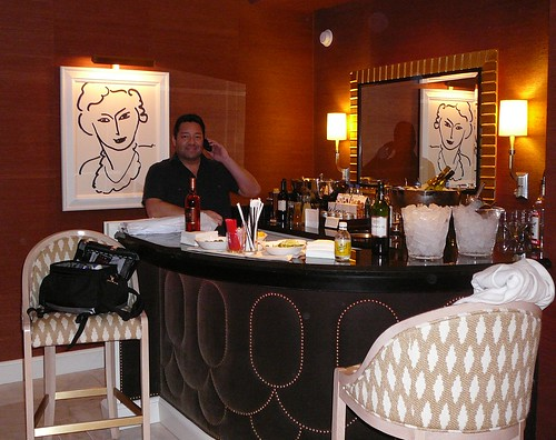 Joe Morin in his suite at the Las Vegas Wynn hotel