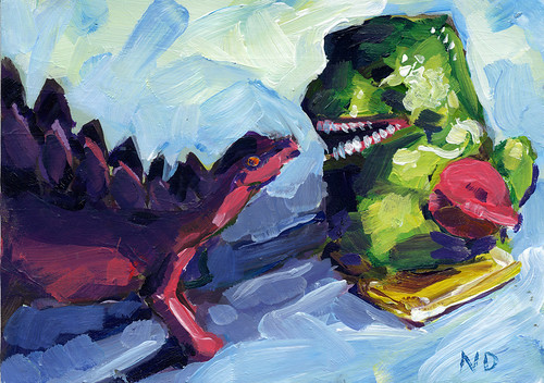 Godzilla vs Stegosaurus