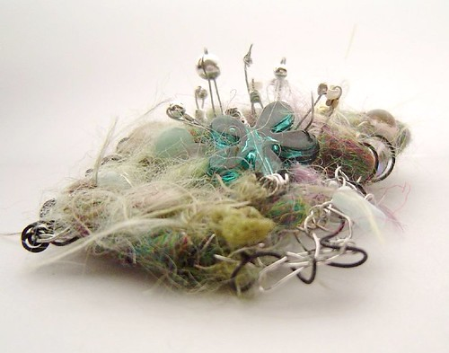 flotsam brooch - dill pickle wannabe in profile