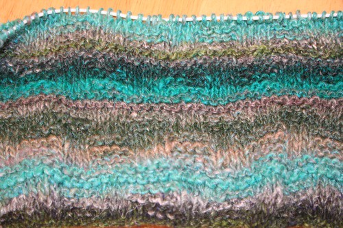 noro throw stitch close up