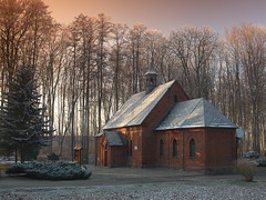 ...church... (Marcin Mazurkiewicz FotoBlog) Tags: trees sunset panorama church fog forest fotografie poland polska polen zima mga szron trzebnica lowersilesia trebnitz marcinmazurkiewicz anawesomeshot aplusphoto superbmasterpiece lasbukowy brillianteyejewel kocileny