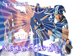 Lazytown - Sportacus WallPaper (SawaiTsukino2012) Tags: stephanie wallpapers rotten robbie personagens lazytown sportacus