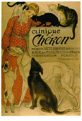 Clinique Chron (purpi_purp) Tags: old cats paris dogs illustration vintage vet postcard advertisement card reproduction reprint