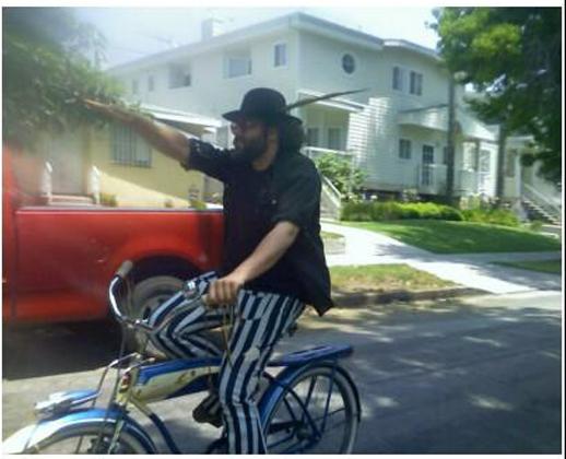 Joel on a bike