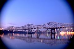 George Rogers Clark Memorial Bridge (Sadie Shooter) Tags: bridge delete10 sunrise delete5 dawn delete2 delete6 delete7 delete8 delete3 delete delete4 save save2 fisheyelens louisvilleky delete9thehalfbloodprince