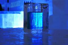 Cocktail in ice glass (gezzajax) Tags: blue snow cold art ice water glass architecture reindeer design bed sweden freezing arctic cocktail freeze lapland northern dogsledding kiruna icehotel arcticcircle jukkasjrvi snowmobil torne reindeerskin rivertorne