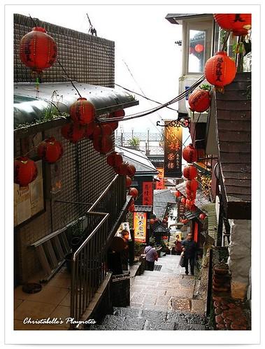 九份豎崎路階梯俯瞰 A Winding Alley in ChiuFen, Taiwan