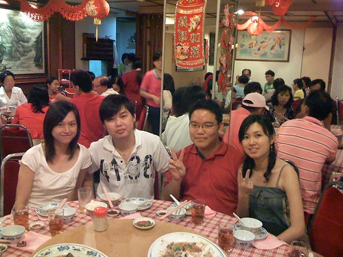 Me, Cousin Fung Ming and Cousin Mun Kin and his girlfriend