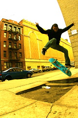 Hard Flip over creston's gap! (joeslifestory) Tags: nyc goofy sport yellow skateboarding action bronx hardflip platinumphoto anawesomeshot superbmasterpiece 1on1urban heartsawardgroup photofaceoffwinner 1on1urbanphotooftheweek theperfectphotographer kubrickslook 1on1urbanphotooftheweekfebruary2008 crestonave