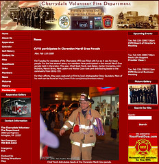 Photo featured on Cherrydale FD website (drewsaunders) Tags: arlington screenshot vanity mardigras allisvanity cherrydalevolunteerfiredepartment featuredon