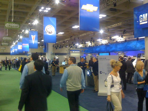 Massive General Motors booth at NADA 2008