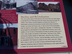 section of the Petersburg's Old Towne panel adjacent to the Tourism-History Narrative Kiosk, Downtown Petersburg, VA