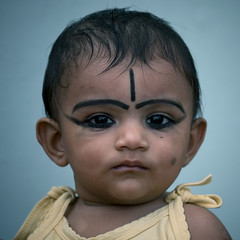 Baby With Khl And Protection Sign On The Forehead,  Kochi, India (Eric Lafforgue) Tags: baby india children democracy kid eyes child makeup indie devil indi enfant indien bb hind indi inde hodu southasia indland  hindistan indija   ndia hindustan  1570  lafforgue   ericlafforgue hindia  bhrat  indhiya bhratavarsha bhratadesha bharatadeshamu bhrrowtbaurshow  hndkastan