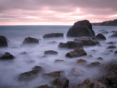 Rocky Sunset (rianklong) Tags: ocean california park ca longexposure beach rock geotagged losangeles rocks pacific cove shoreline filter abalone palosverdes nd400 abalonecove blueribbonwinner canons3 hoyand400