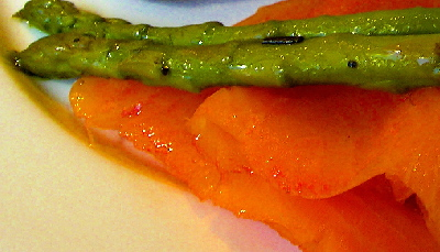 lox and asparagus