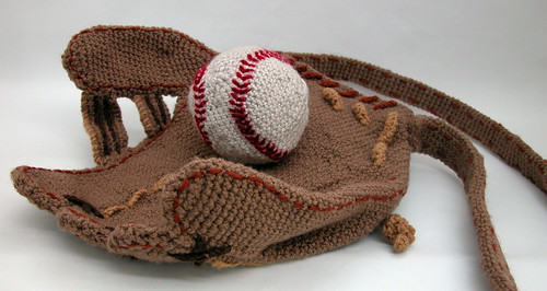 Baseball Glove Purse palm-side up