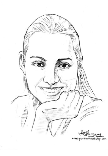 Portraits in pencil simple sketch Formul8 Nokia Book 2