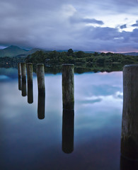 Keswick, Lake District (Corica) Tags: uk longexposure greatbritain trees england lake water clouds landscape britain derwent north hills cumbria gb derwentwater posts keswick thelakedistrict sigma1020mm corica causeypike nikond300