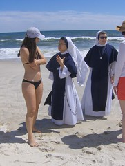 Nuns On The Beach (Joe Shlabotnik) Tags: beach nuns bikini 2009 jonesbeach faved july2009 myphotoseverywhere heylookatthis