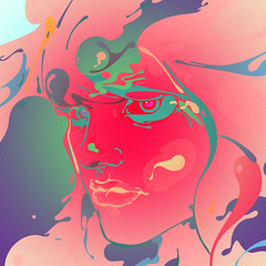 Splash! (Kliment*) Tags: baby sexy art girl look illustration eyes colorful artist feel dream tshirt babe fresh bulgaria draw splash tee vector lafraise kliment
