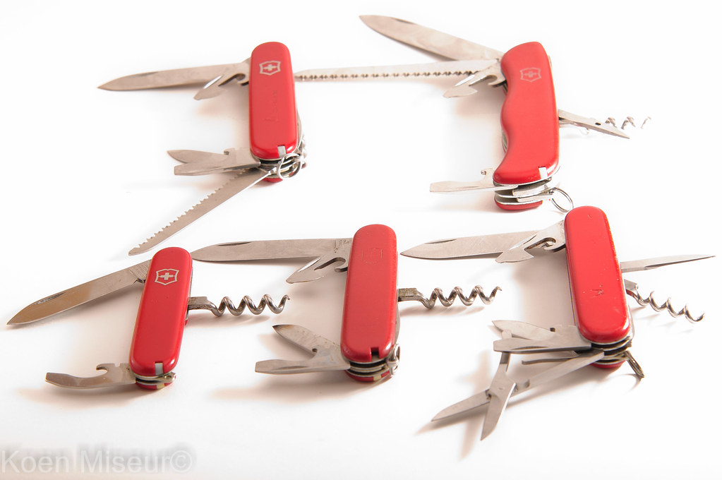 Victorinox knives.