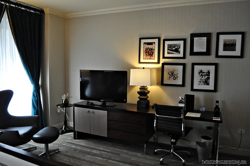 TV and Desk in Standard Room at Grand Hotel ~ MInneapolis, MN