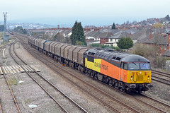 Colas Rail Freight Class 56 No. 56113 Passing East Usk Junction (ashthemainman) Tags: rail newport gwent frieght colas class56 56113 eastuskjunction vision:mountain=0619 vision:outdoor=0982