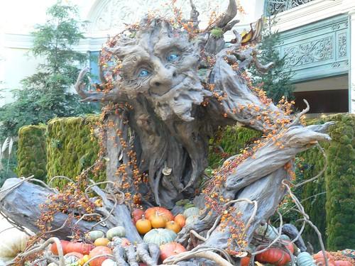 Treeman at Bellagio for Halloween