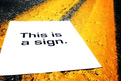 a sign (kelly ann t) Tags: road street lines sign yellow concept