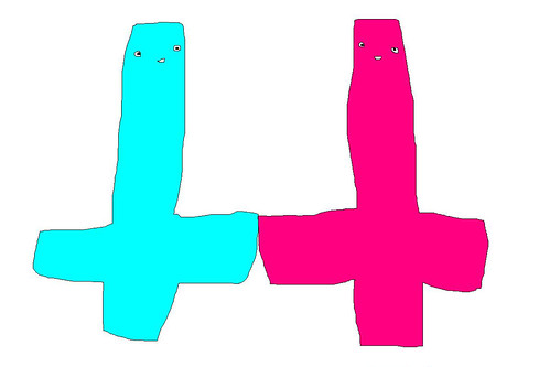 upside-down cross friends