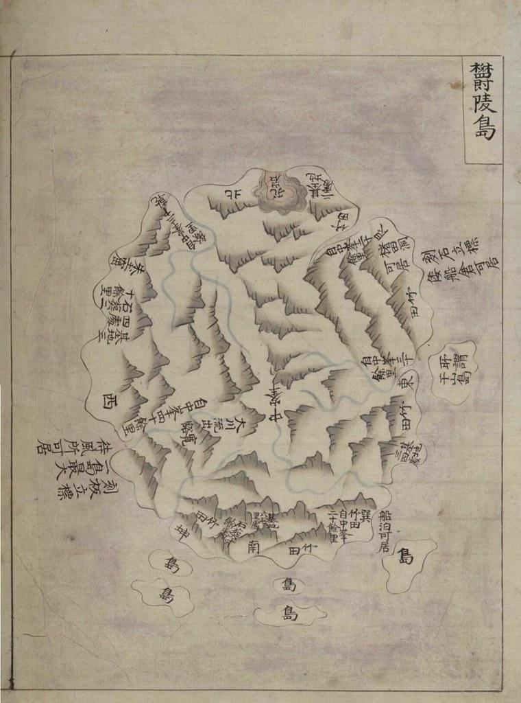 """""""Gwang Yeodo"""" ((廣輿圖) Atas (1737 ~ 1776)"""