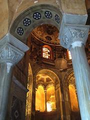 (clickykbd) Tags: travel blue italy orange color canon tile italia arch mosaic basilica columns mosaics arches tiles clickykbd temperature ravenna 2007 emiliaromagna sanvitale sd1000 sopahide