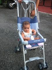 trying out her stroller